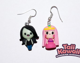 Marceline + Princess Bubblegum earrings
