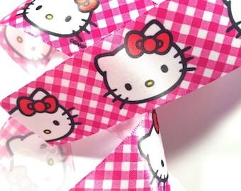 Pink Hello Kitty kawaii ribbon