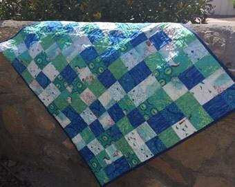 Blues Square Quilt