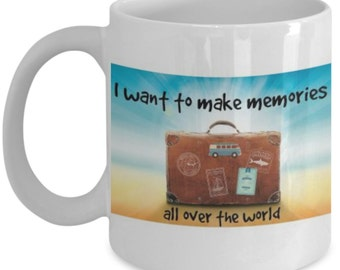 Novelty Coffee Mug -White Ceramic Coffee Cup for Traveler