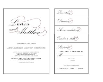 Pocket Wedding Invitation | Printable