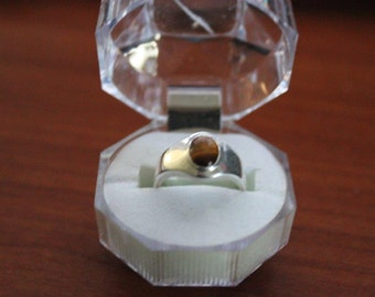 High Quality Handmade 925 Sterling Silver Tigers eye ring