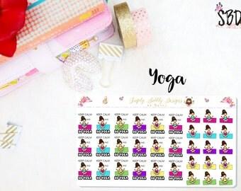 Yoga - Planner stickers