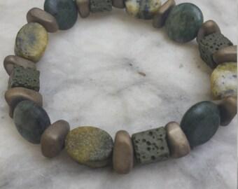 bracelet, stone bracelet, mens bracelet