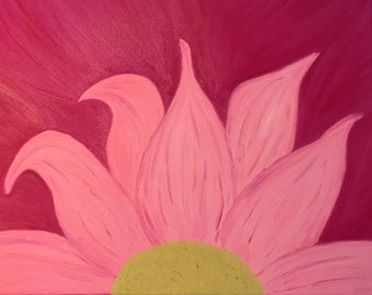 Pink fusion flower 16x20.