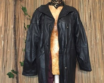 BLack coat with Stitching