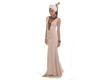Bamboo Flamenco Dress Ecru