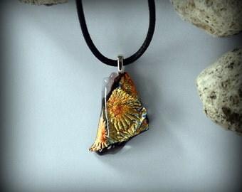 Dichroic Glass pendant/glass jewel-premium dichroic/t fuse