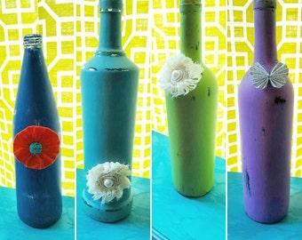 Shabby Chic bottle or vase