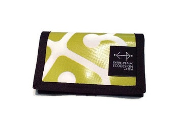 Lime green and white unisex wallet Montreal