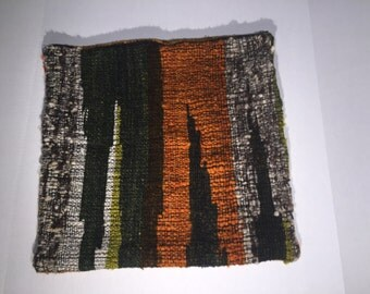Handwoven, Hand-dyed Virgin Wool pillow case