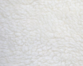 White Anti Pill Fleece Super soft Great for cloth pads