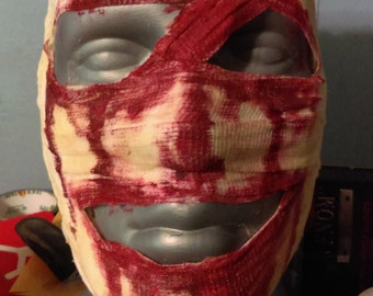 bloody bandage mask