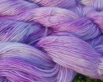 hand dyed mohair dk, Peony  100g, 225m