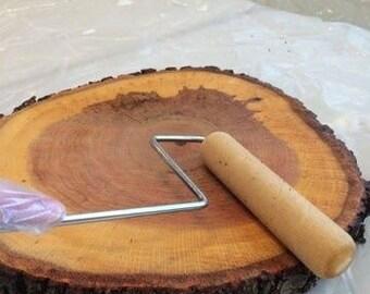 Wood slab centerpieces