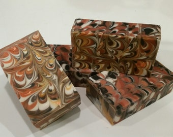 Toasty Mallows Vegan Cocoa and Shea Butter Handmade Cold Process Soap