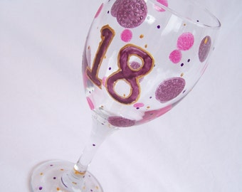 18th Birthday Glass