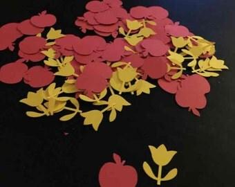 Snow white table confetti