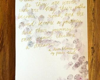 Lily- An Original Watercolor Poem