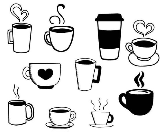 Download Coffee cup svg dxf eps png vector clip art Files for