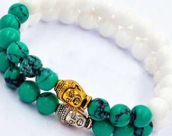 white jade and turquoise
