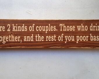 Craft couple Wood Sign