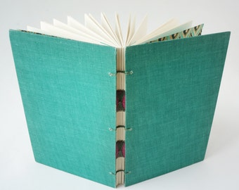 Journal, Art Journal, Notebook, Sketchbook or Guestbook, Hand-Bound Upcycled Deconstructed Book