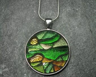 Green Fields Mosaic Pendant