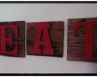 Handcrafted Pallet Eat Sign