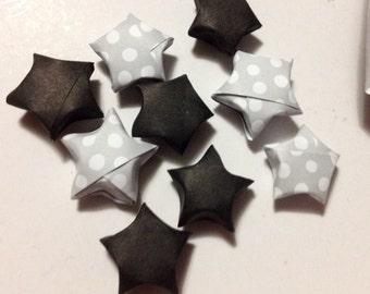 100 Black origami paper stars