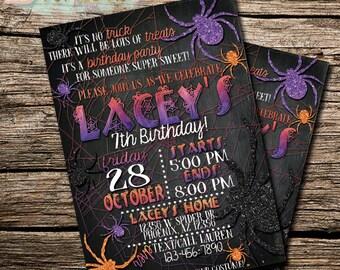 Halloween Invitation   Halloween Invite   Halloween Party   Spider Invitation   Spider Invite   Halloween Printables   Halloween Invites