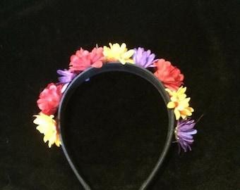 Custom flowered headbands