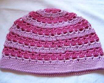 Summer hat in pink / pink