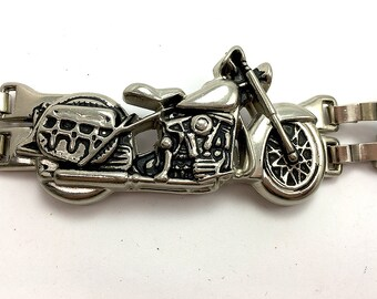 "Metal Motorcycle Link Embellishment, Singles Without Link Clips, 3.5"" x 1.5""  -1977-R003"