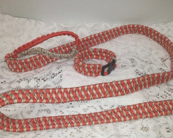 5.5 ft leash and collar set