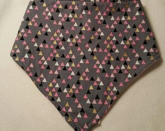 Grey Triangle Bandana Bib
