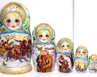 """Matryoshka """"Troika"""" 5 - places"""