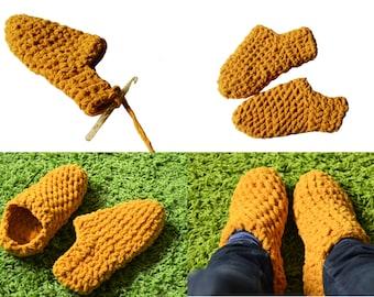 Crochet slippers, eBook crochet pattern socks, bed shoes, crochet slippers pattern
