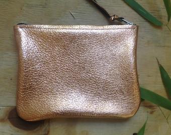 leather clutch, leather handbag, gold clutch