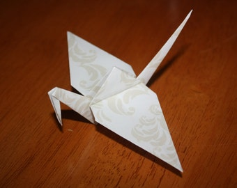 20 Origami Crane Wedding Favors Ivory W1/05
