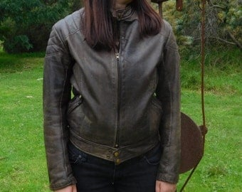 Vintage Jet Leather Motorcycle jacket
