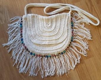Ibiza/Boho/Festival handbag (off white)