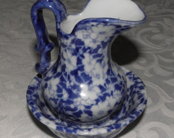 Vintage Victoria Ware  Flow Blue