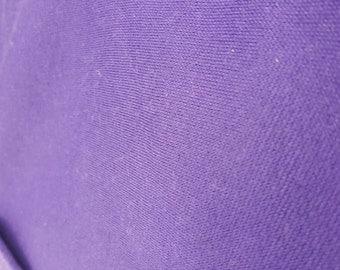 Poly Cotton Sweatshirt Fleece Fabric by the Yard Purple (LT2)