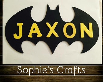 Batman door plaque personalised with any name