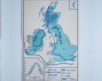 British Isles Actual Temperatures - January