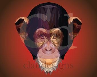 Monkey Vector Digital Copy Instant Download