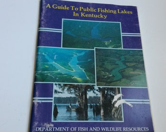 A guide to public fishing lakes in Kentucky, Kentucky lakes guide, Kentucky fishing book - BB6