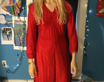 Red Fitted Slip Dress