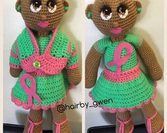 Fighting Cancer Crochet Cuddler